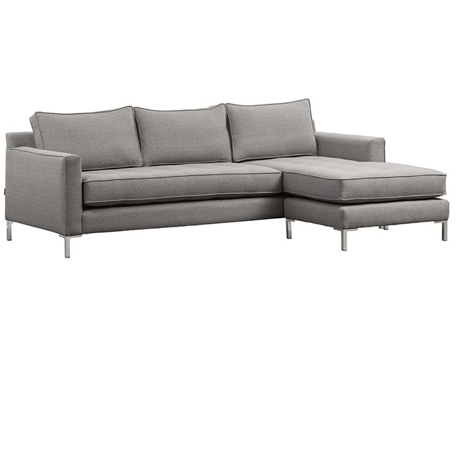 Draper flip sectional mikaza meubles modernes montreal for Sofa cuir liquidation montreal