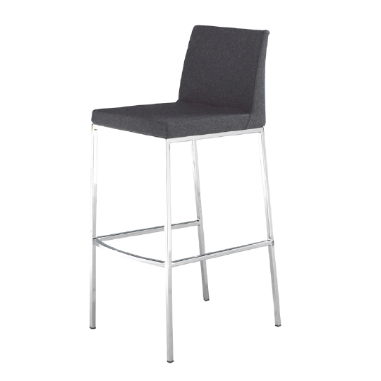 Celine stool with chrome base