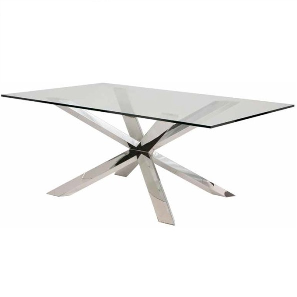 Couture dining table glass top