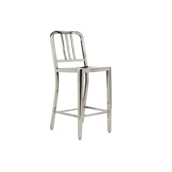 Army stool polished stainless steel