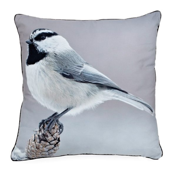 Black Cape Chickadee pillow