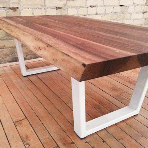 2 Loons coffee tables live edge