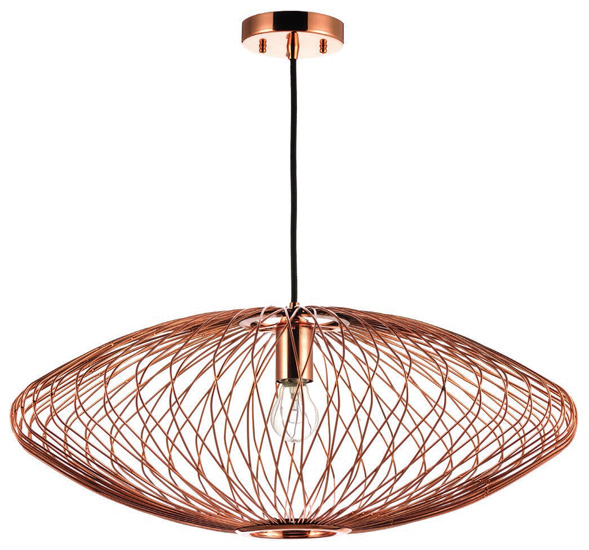 Astra by Nuevo Pendant in Polished Copper, New in Box