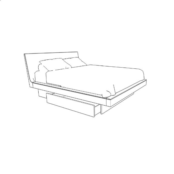 Azura Bed With Storage 36""