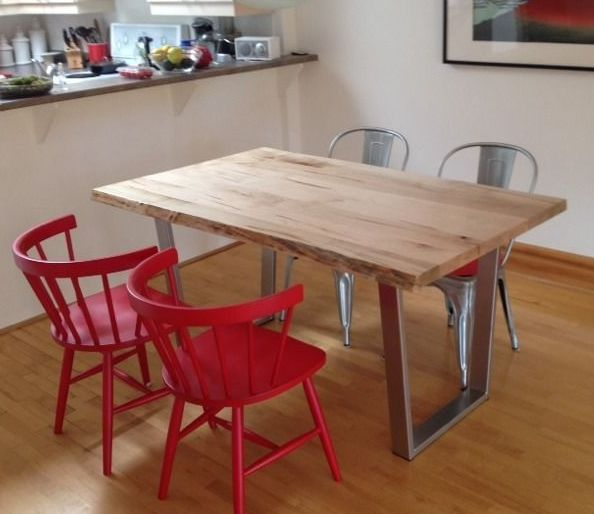 2Loons solid vintage maple tables