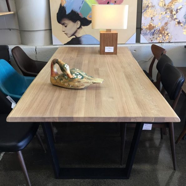 1.5″ thick Live Edge Solid Raw Oak Dining Tables