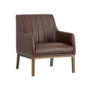 cardiffe brown accemt chair