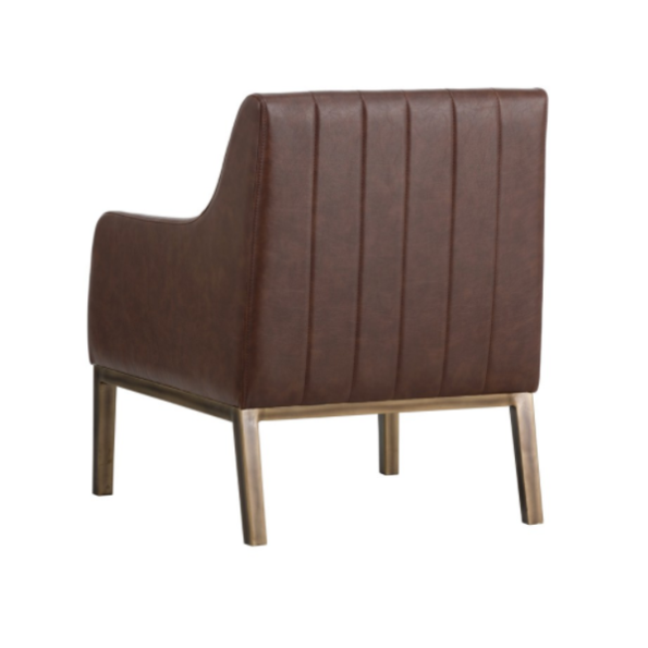 cardiffe brown accemt chair back