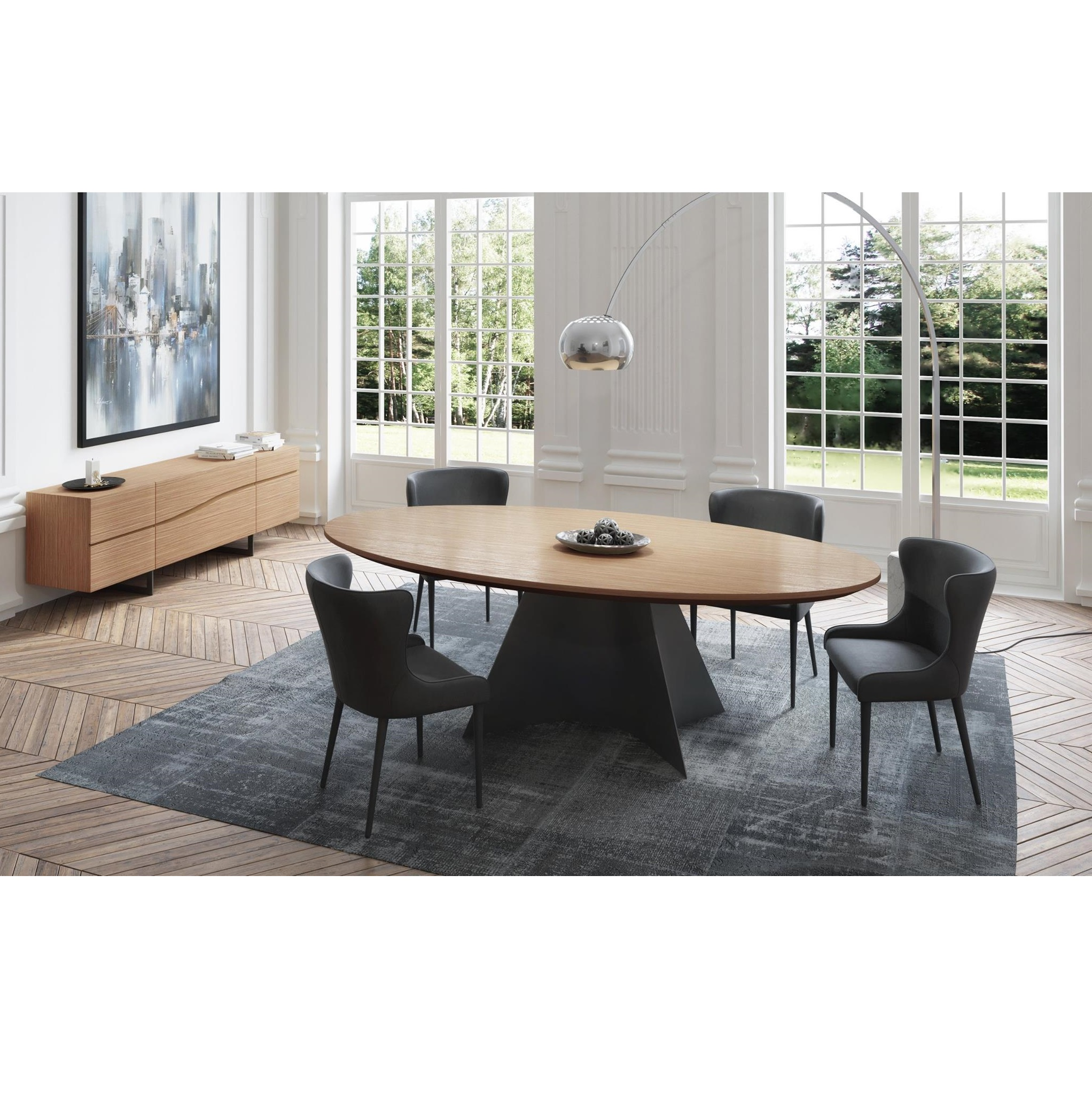 Vincent Oval Dining Table Mikaza Meubles Modernes Montreal Modern Furniture Ottawa