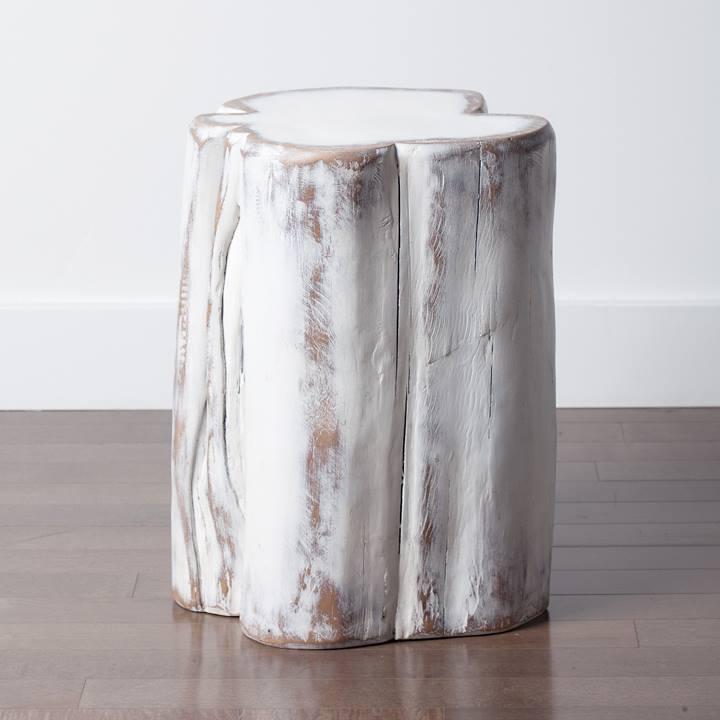 wood stump furniture. White Wash Tree Stump Wood Furniture