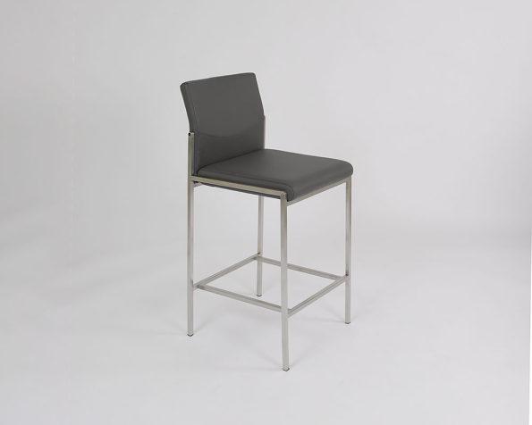 Angle stool grey