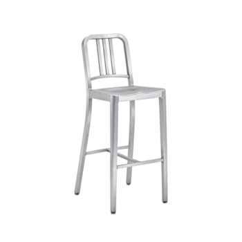 Army stool brushed aluminum 1