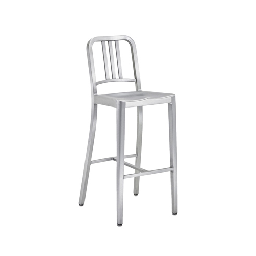 Army stool brushed aluminum
