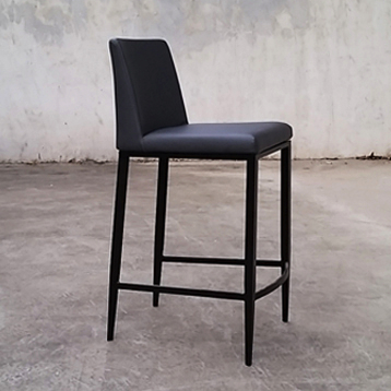 Celine Stool With Black Base Mikaza Meubles Modernes