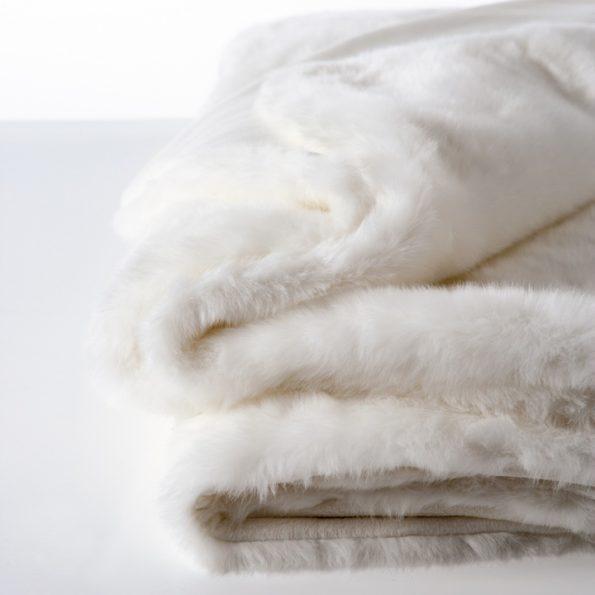 Aspen Deluxe Faux Fur / Velboa Throw – Polar White