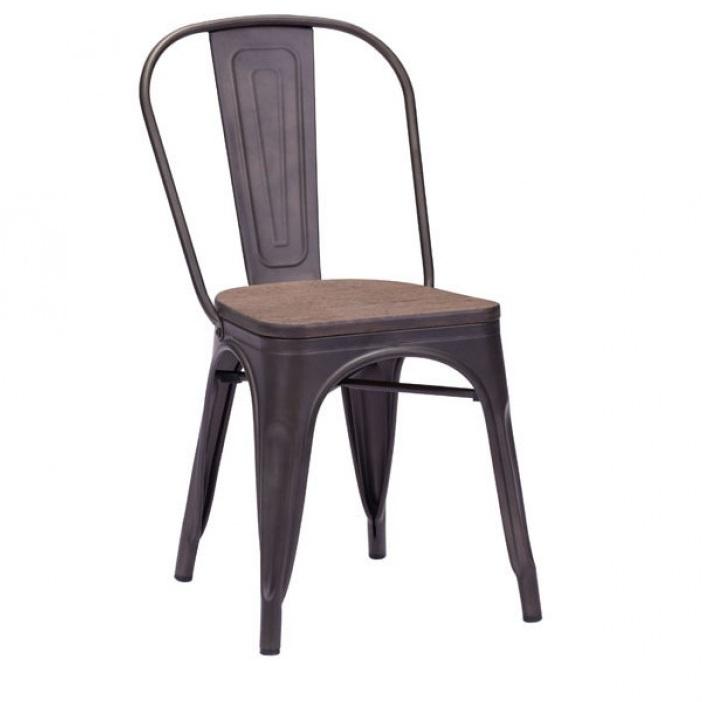 Elio chaise d ner rustique mikaza meubles modernes for Meuble rustique montreal