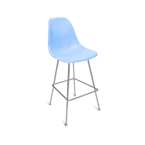 Eiffel stool with coloured shell