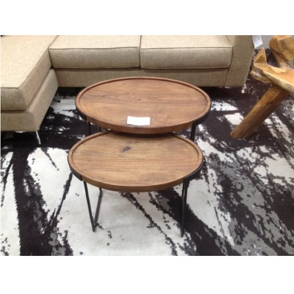 Oval Coffee Table Nest: Mikaza Meubles Modernes Montreal