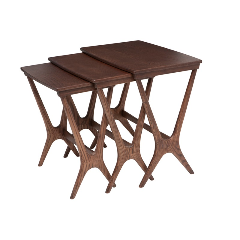 Wishbone Nested Tables Mikaza Meubles Modernes Montreal