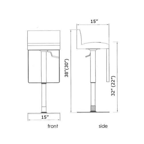 Astro hydraulic stool specs