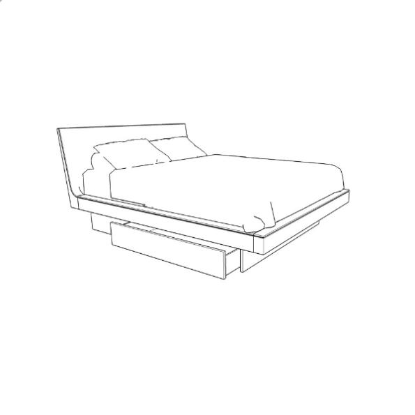 """Azura Bed With Storage 36"""""""