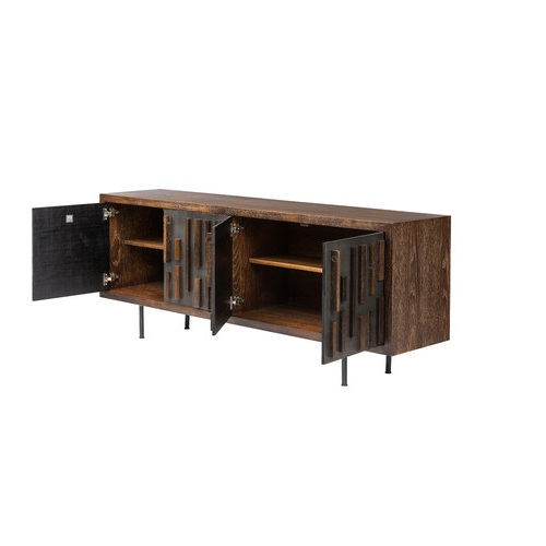 Blok Buffet Seared Oak Blackened/Cast iron