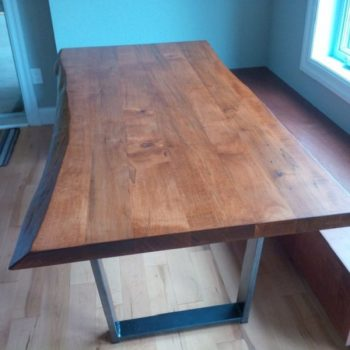 solid maple wood table