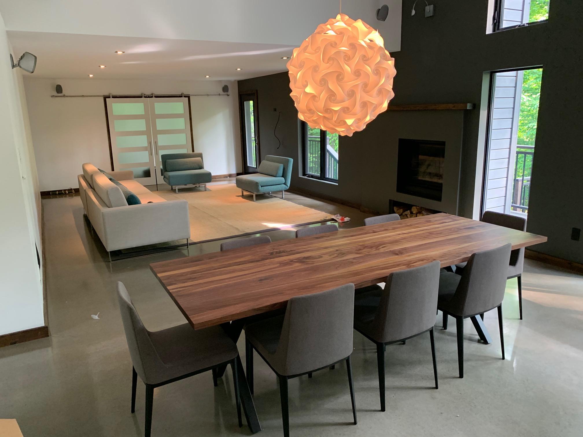 Solid Walnut Dining Room Furniture, Walnut Dining Room