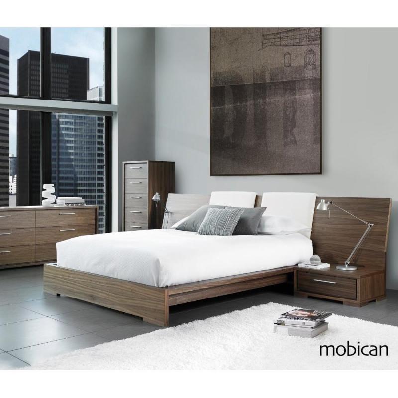 Sonoma Wooden Bed Long Headboard Modern Minimalist Bedroom