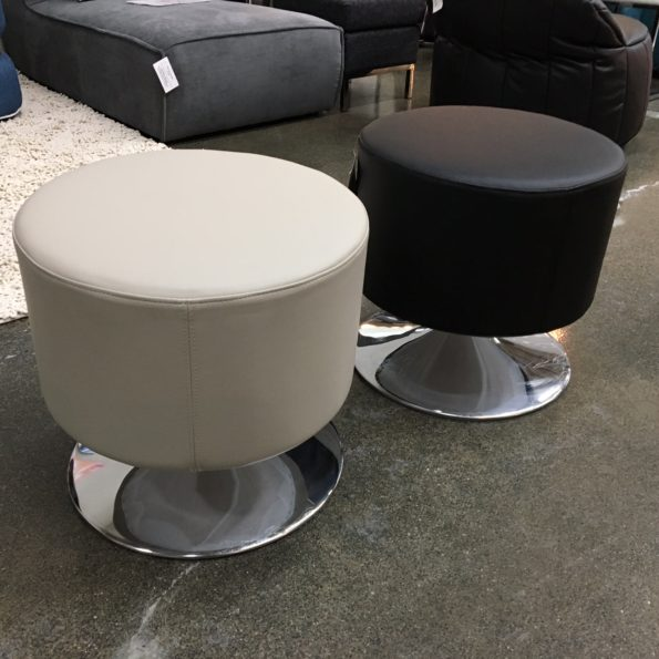 Leatherette Swivel Stool