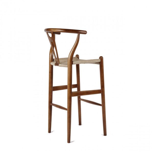 wishbone stool walnut