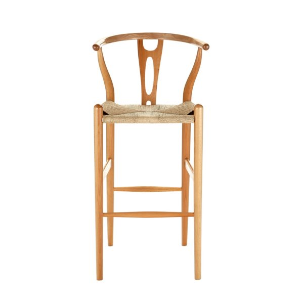 wishbone stool natural