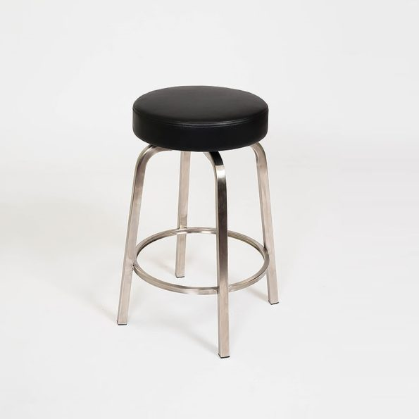 Classic Stool Black on Stainless