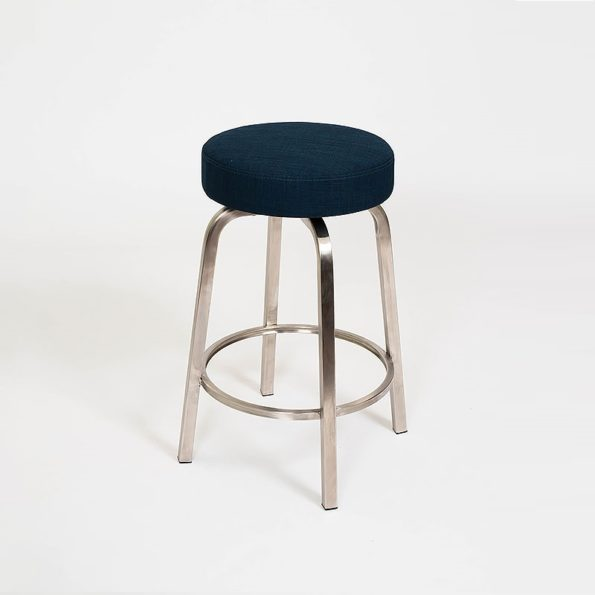 Classic Stool Navy Blue on Stainless