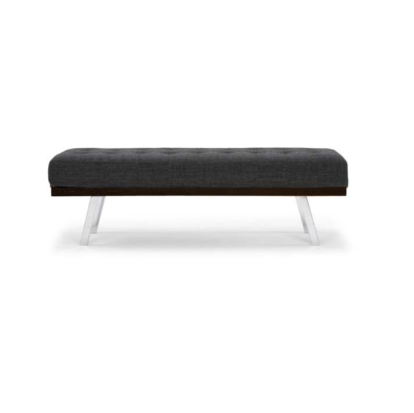 Rikard bench dark grey tweed