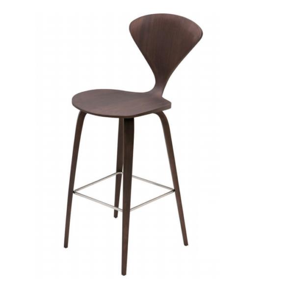 Satine counter stool dark walnut