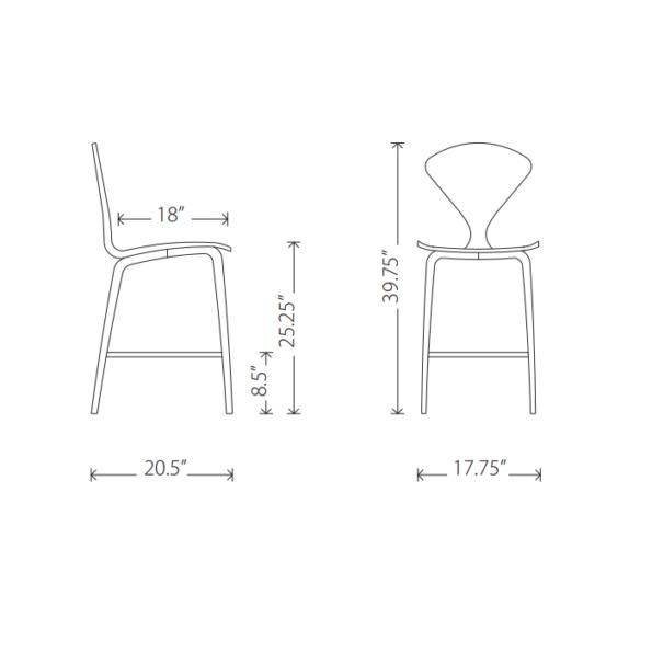 Satine counter stool specs
