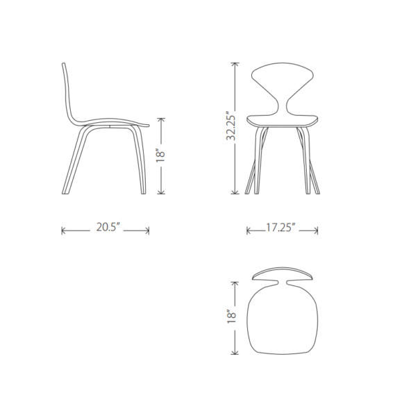 Satine dining chair specs