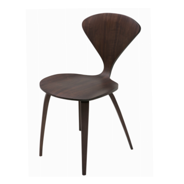 Satine dining chair dark walnut