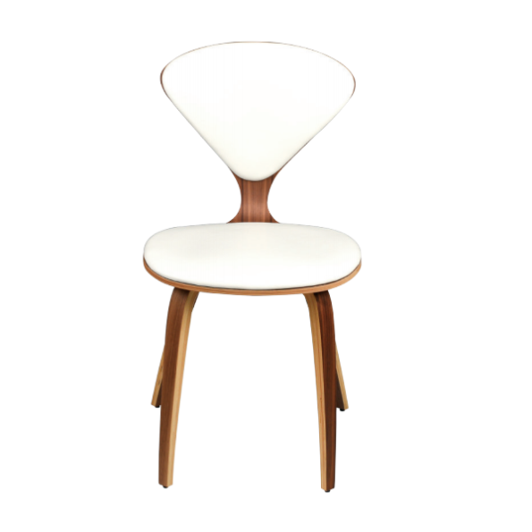 Satine dining chair white leather