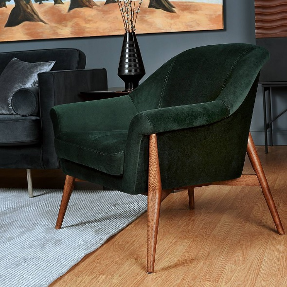 charlize chair emerald green