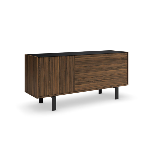 Elodi buffet (1 door & 3 drawers) with black legs