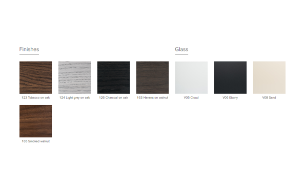 Vinci table finishes
