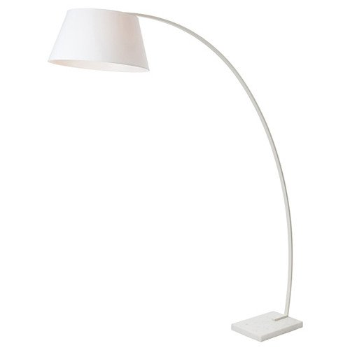 evan floor lamp white