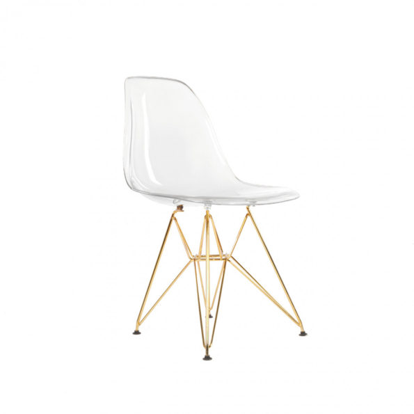 Eiffel Acrylic Shell with Gold Metal Legs