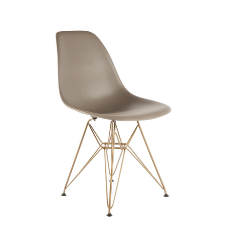 Eiffel Coloured Shell with Bronze Legs