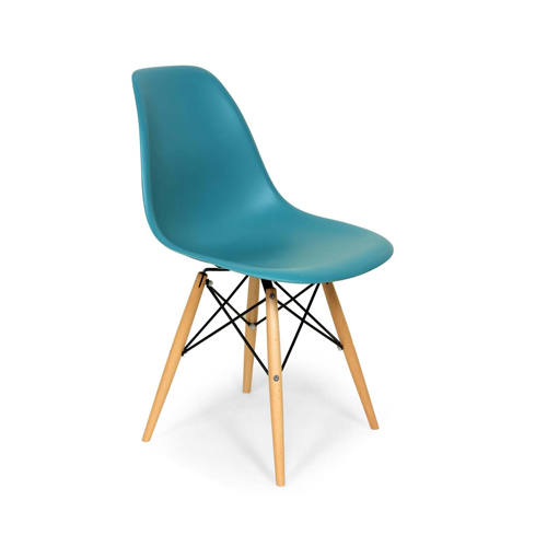 Eiffel Coloured Shell with Natural Wood Legs
