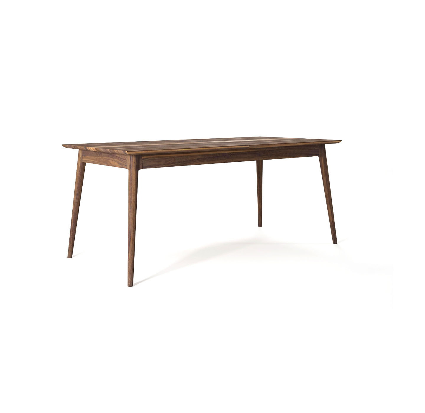 Vintage Solid Walnut Extension Dining Table Mikaza Meubles Modernes Montreal Modern Furniture