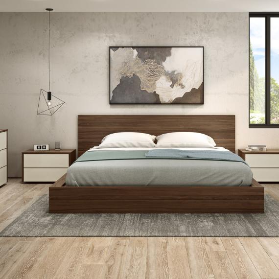 Wooden Bed Minimalist Bedroom Set Furniture Montreal