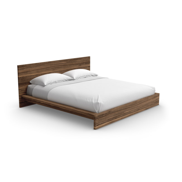 wooden bed minimalist bedroom set furniture Montreal
